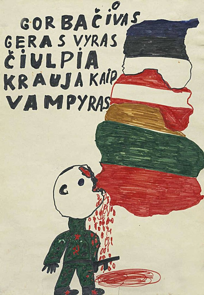 """""""Gorbačiovas, geras vyras, čiulpia kraują kaip vampyras"""". Autorius nežinomas"""
